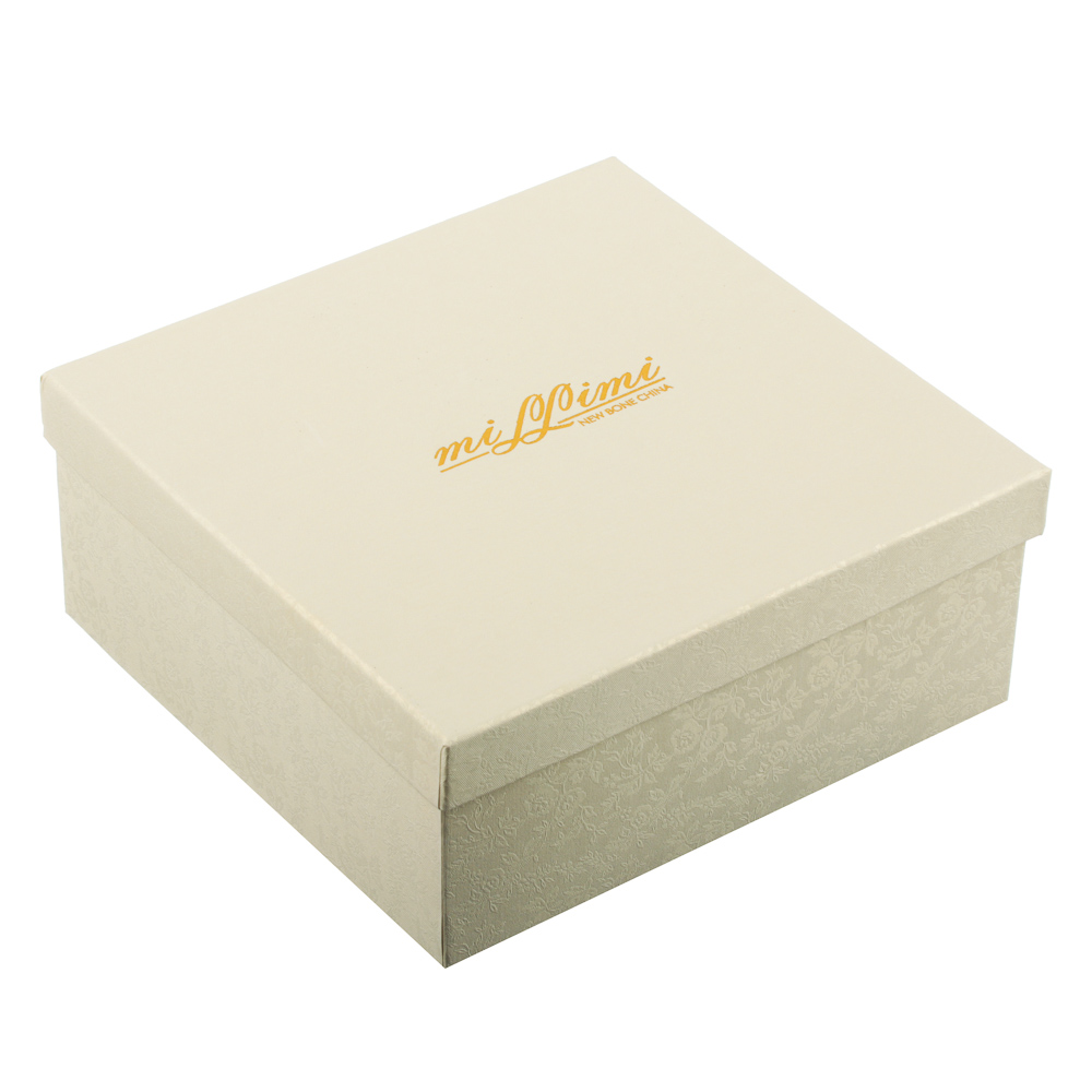 MILLIMI Лист блэк&вайт Набор чайный 4пр., 220мл, 16x11,5см, костяной фарфор