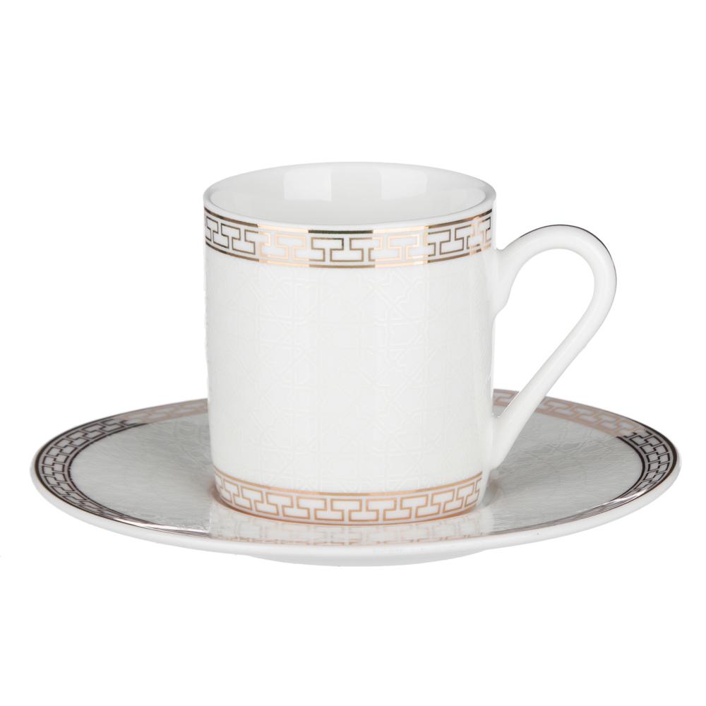 MILLIMI Ностальжи Набор кофейный 4пр., 100мл, 12,5см, костяной фарфор