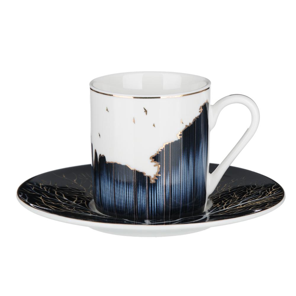 MILLIMI Триумф Набор кофейный 4пр., 100мл, 12,5см, костяной фарфор