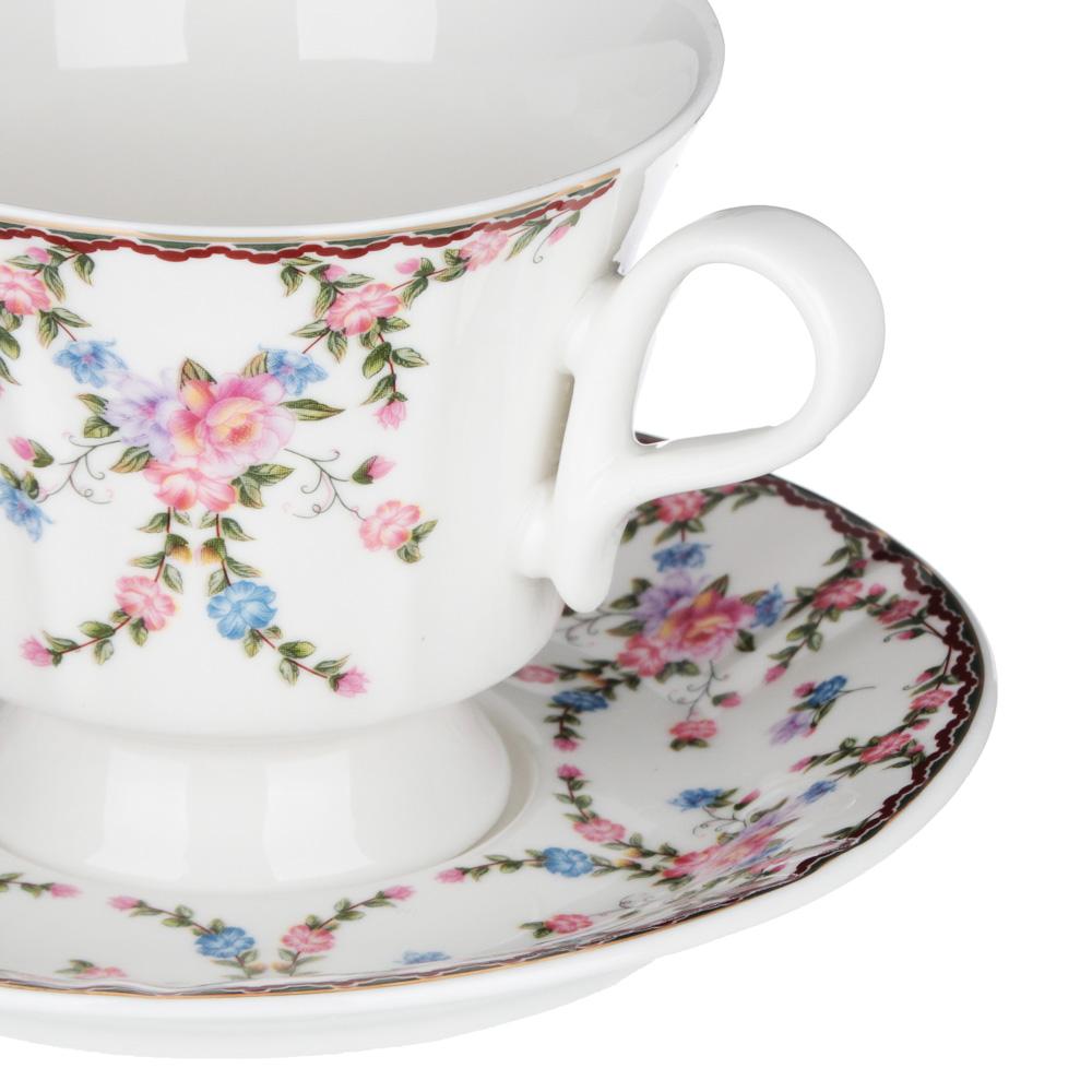 MILLIMI Роза Набор чайный 12 пр., 220мл, 15см, костяной фарфор