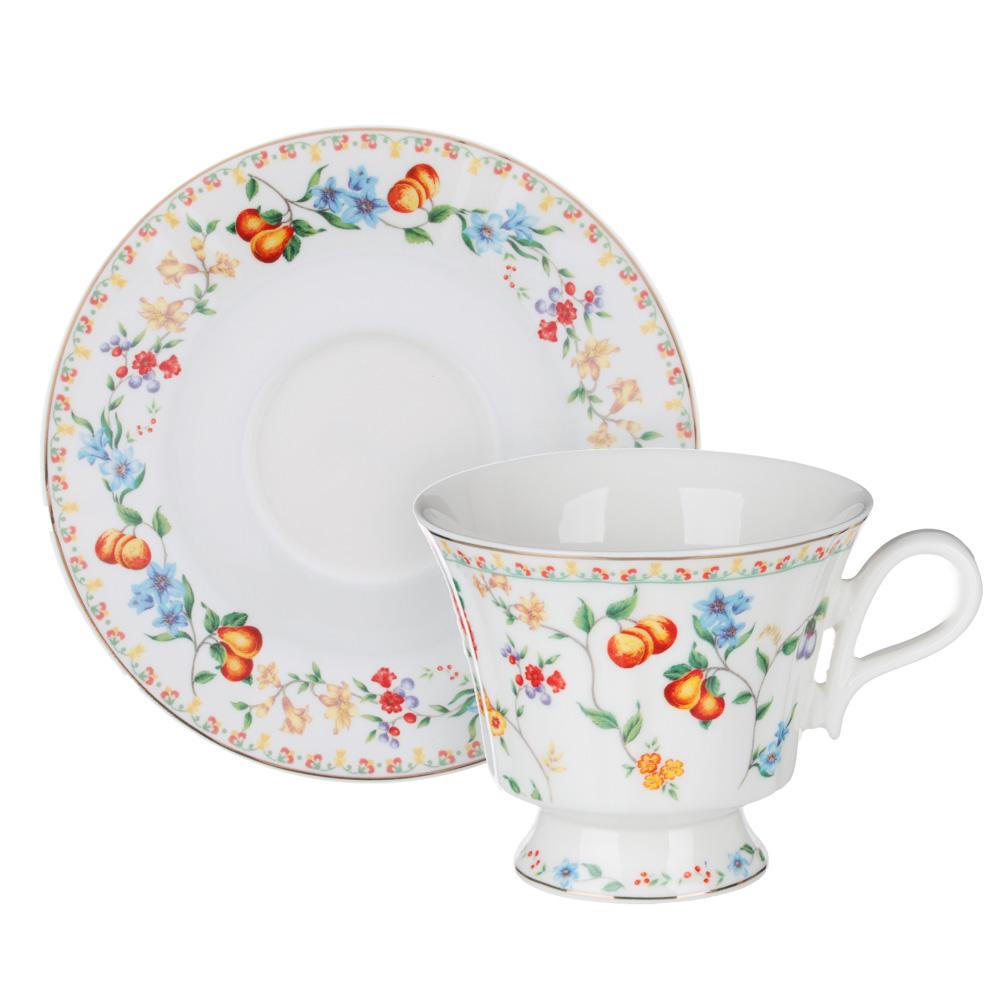 MILLIMI Розовая весна Набор чайный 2 пр., 220мл, 15см, костяной фарфор, 2 дизайна