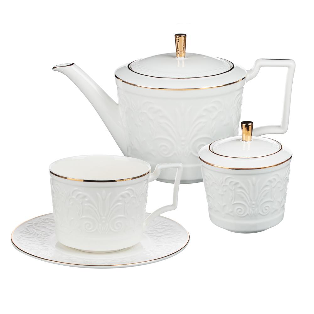 MILLIMI Да Винчи Набор чайный 14 пр., чашка 270мл, 15см, чайник 1050мл, сахарница 300мл, кост. фрф