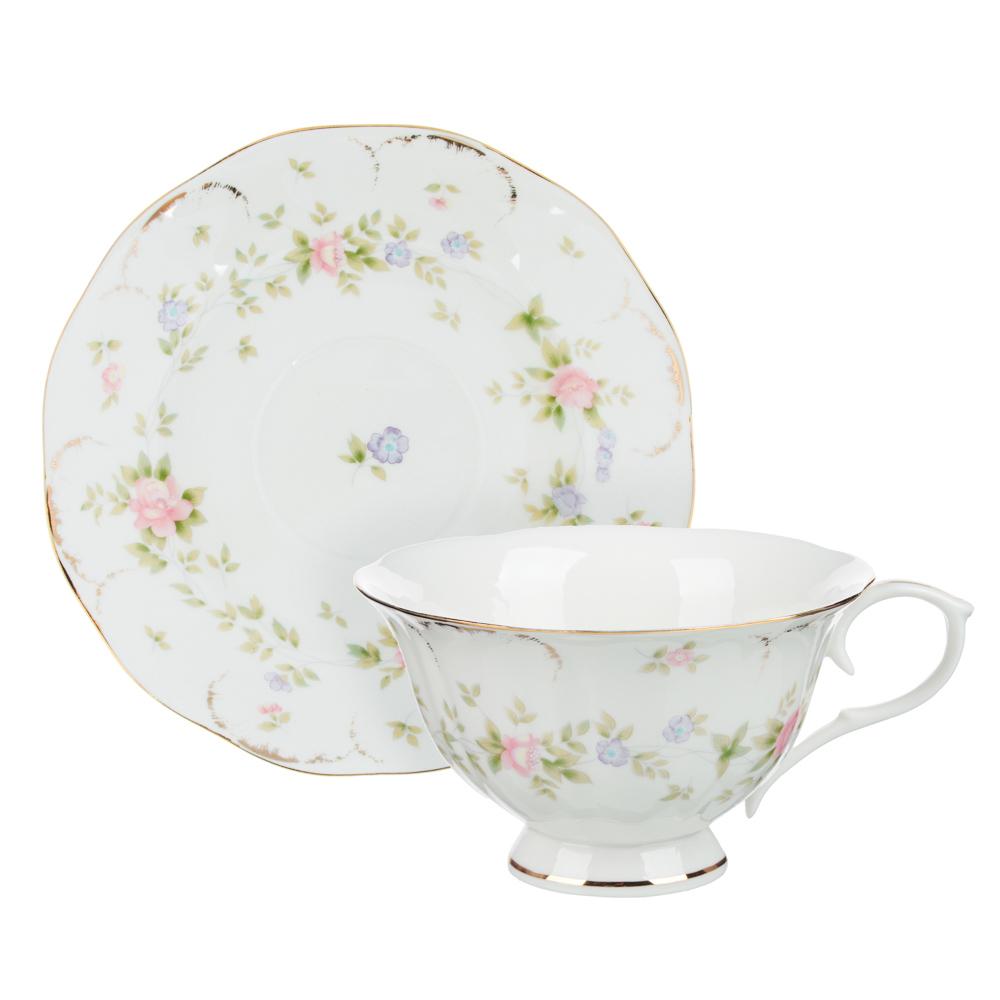 MILLIMI Вуаль Набор чайный 14 пр., чашка 240мл, 15см, чайник 1250мл, сахарница 310мл, кост. фрф