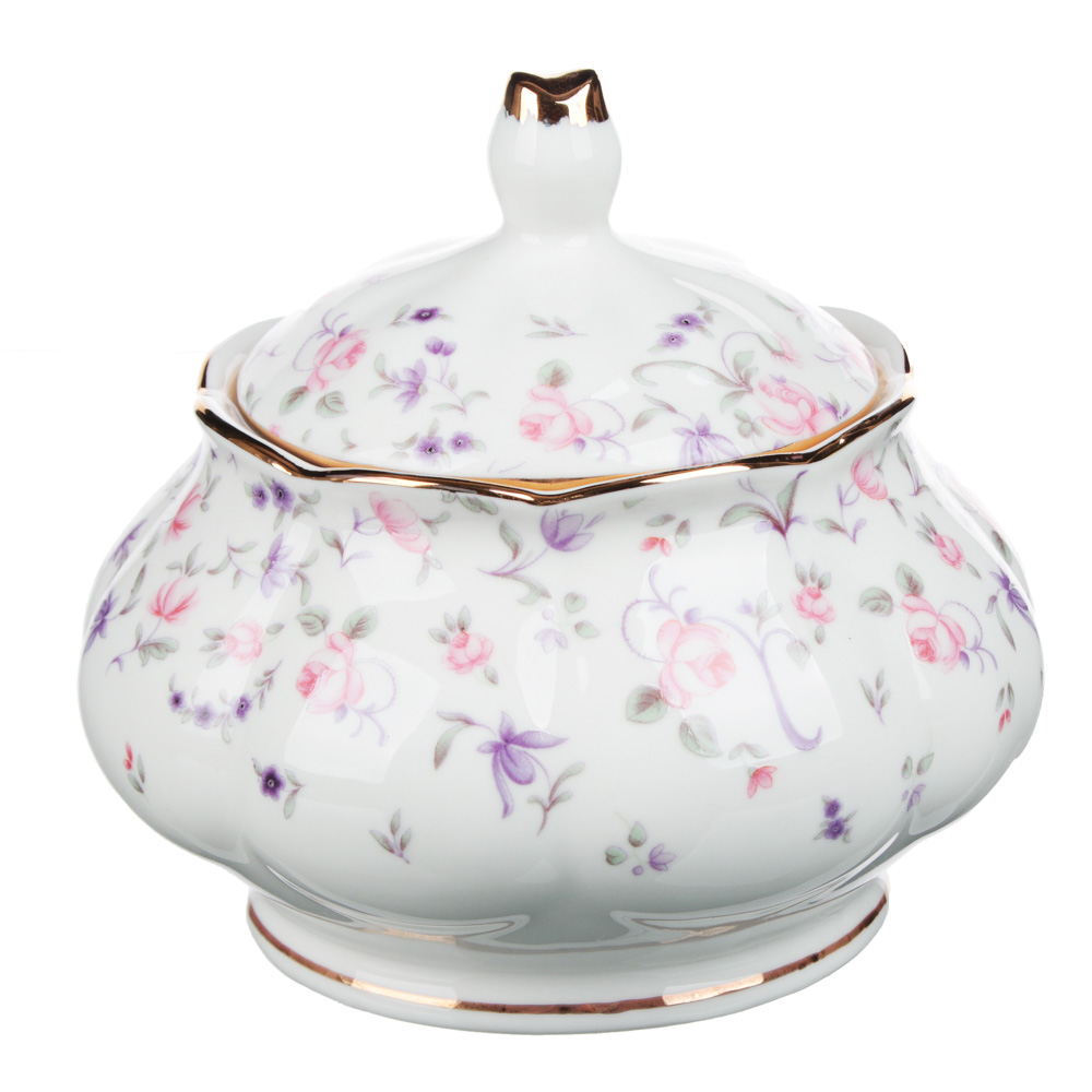 MILLIMI Грезы Набор чайный 14 пр., чашка 240мл, 15см, чайник 1250мл, сахарница 310мл, кост. фрф