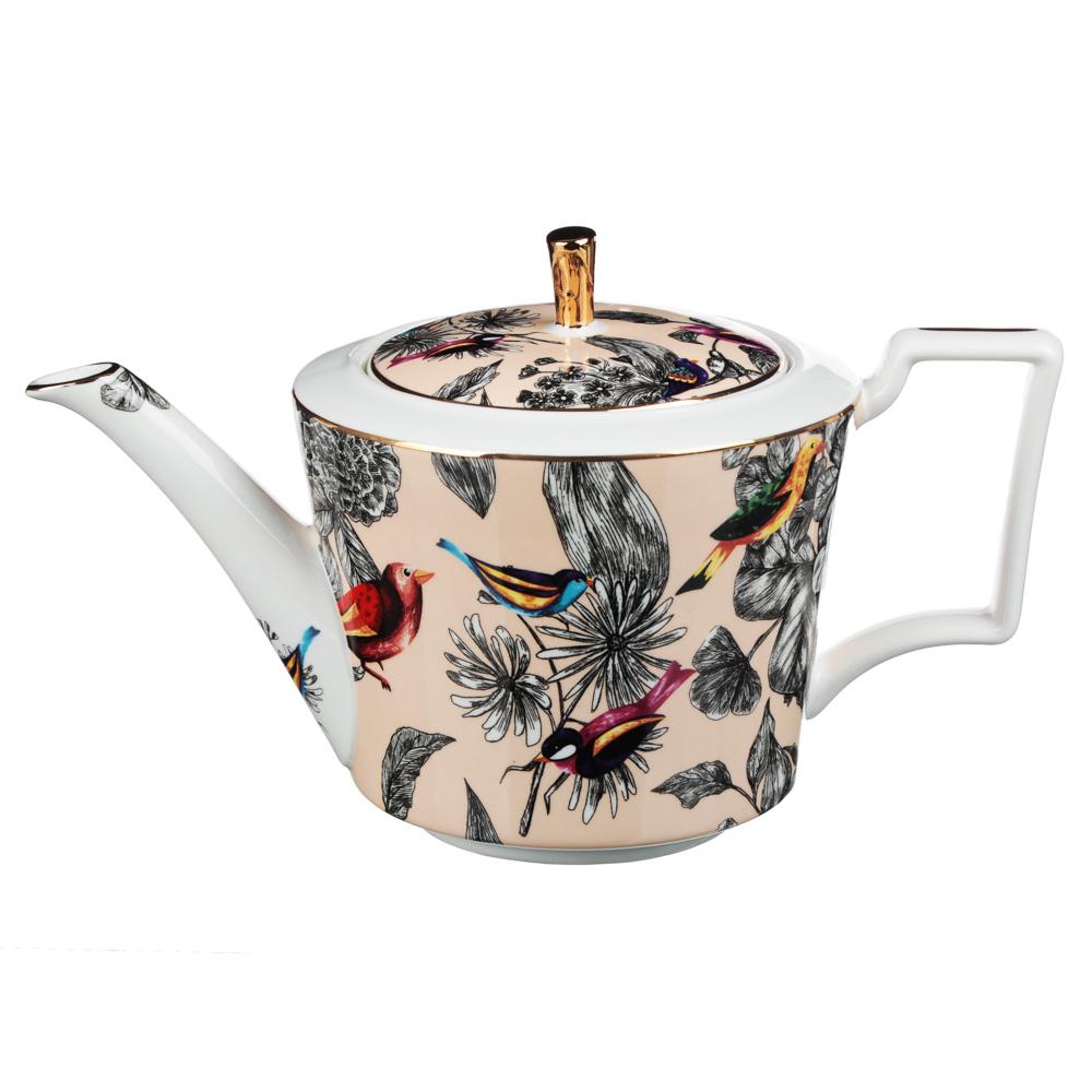 MILLIMI Очарование Набор чайный 14 пр., чашка 300мл, 15см, чайник 1200мл, сахарница 350мл, кост.фрф