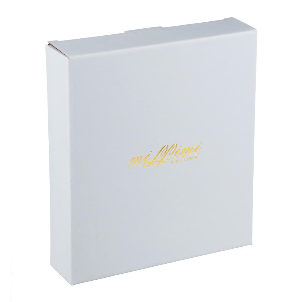 MILLIMI Очарование Конфетница с металлической ручкой, 21х3,5см, костяной фарфор