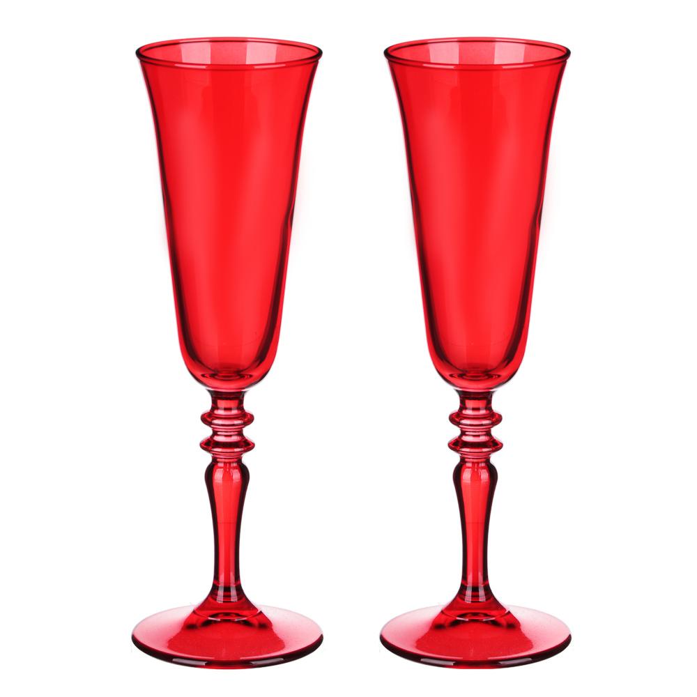 Шотландка Набор бокалов 2 шт для шампанского 190мл