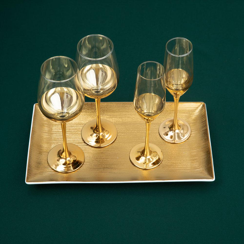 Пряничный домик Набор бокалов 2шт для шампанского, 160мл