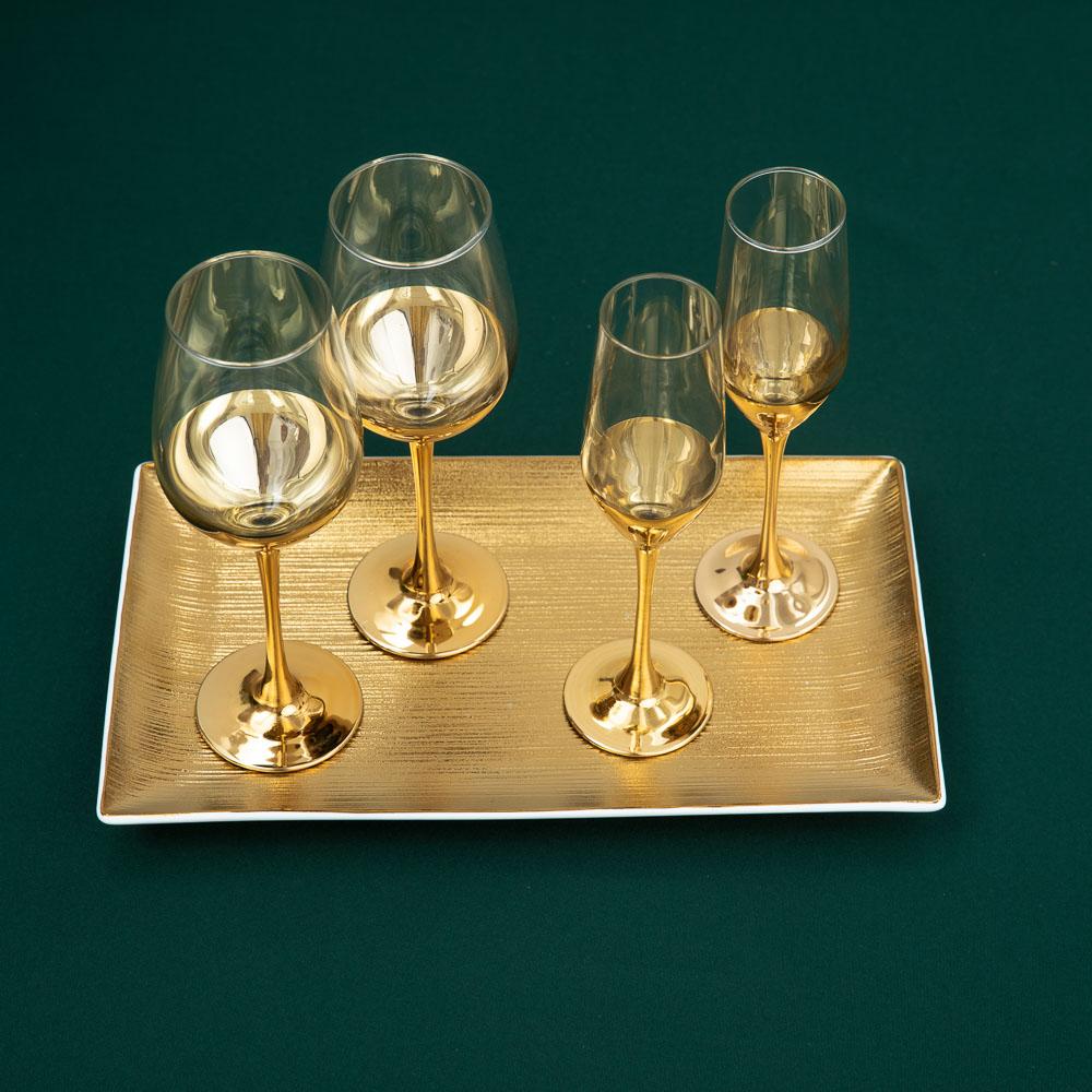 Пряничный домик Набор бокалов 2шт для вина, 350мл