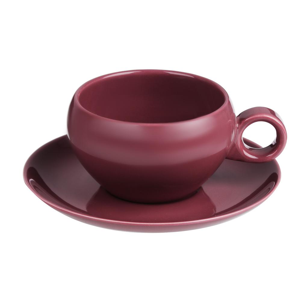 BY Сорбет Набор чайный 2пр, чашка 270мл, блюдце 15см, фарфор