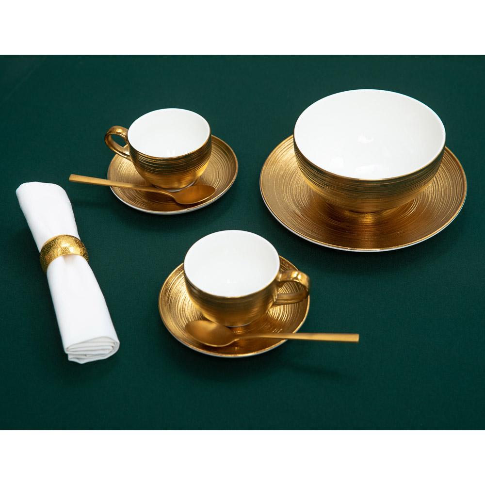 BY Голд фэнтези Набор чайный 2пр, чашка 210мл, блюдце 14см, фарфор