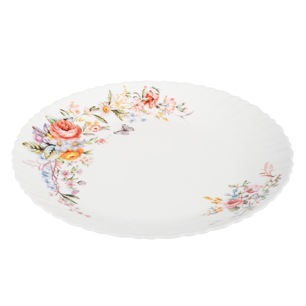 MILLIMI Дарина Тарелка подстановочная опаловое стекло 24см, 18136