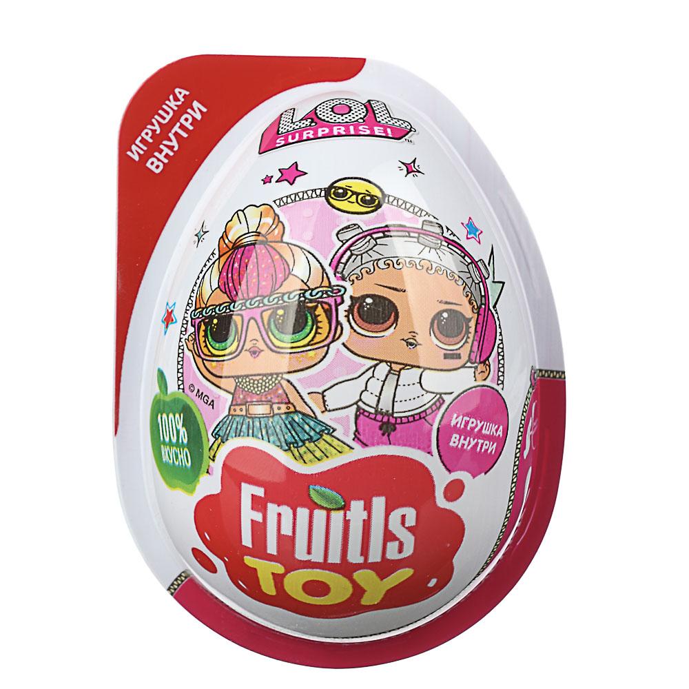 FRUITLS TOY Мармелад 10гр в пластиковом яйце с игрушкой, 2 вида ТРИ КОТА/LOL