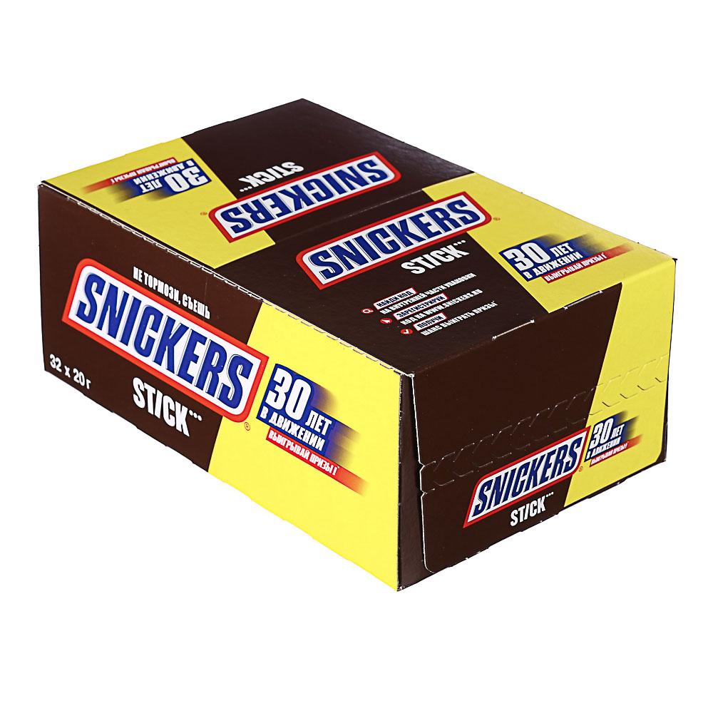 Шоколадный батончик СНИКЕРС STICK 20г