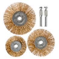 Набор щеток металл со шпильками 3 пр (50,63,75мм -плоские)