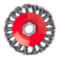 Щетка металл. для УШМ 85мм/М14, крученая (тарелка)