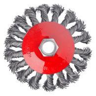 Щетка металл. для УШМ 100мм/М14, крученая (тарелка)