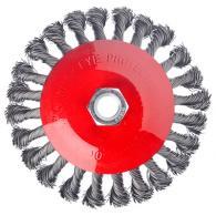 Щетка металл. для УШМ 125мм/М14, крученая (тарелка)