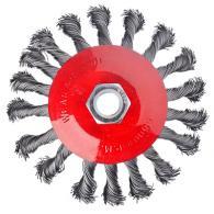 Щетка металл. для УШМ 115мм/М14, крученая (тарелка)