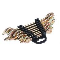 Набор ключей рожковых, 8 предм, 8x10-19x22мм, желтый цинк, пластик холдер