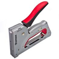 ЕРМАК Степлер мебельный рессорный 3 в 1 регул. металл., двухком. рукоят., тип ск...