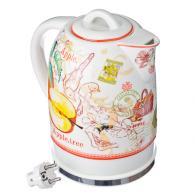 """Чайник керамический 1,7л, 1500Вт, скрытый нагр.элемент, """"Apple garden"""""""