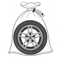 ЕРМАК Набор мешков для хранения шин 4шт, до R22, плотный спандбонд, на завязках,...