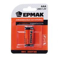 """ЕРМАК Батарейки 2шт """"Alkaline"""" щелочная, тип AAA (LR03), 1,5В"""