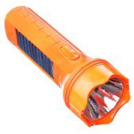 Фонарь мини, 4+1LED, пластик, 6x16см, пит. 220В / солн.батарея