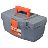 """ЕРМАК Ящик для инструментов Master Economy 12"""" серо-свинцовый / оранжевый"""
