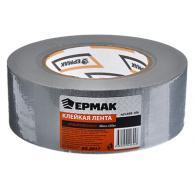 ЕРМАК Клейкая лента армированная серебряная 48мм х 50м, инд.упаковка