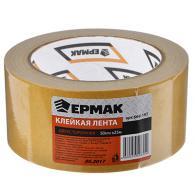 ЕРМАК Клейкая лента двухсторонняя 50мм х 25м, (полипропилен, инд.упаковка)