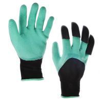 Перчатки-грабли нейлоновые с латексным полуобливом, 9-10 размер, 24см, (75-80гр)