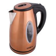 Чайник электрический 1,8л, 1500Вт, скрытый нагр.элемент, автооткл., нерж сталь+пластик MW-KT03