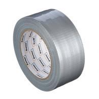 Лента клейкая армированная, 48 ммх40 м, серебряная, инд.упаковка,