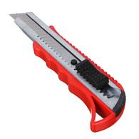 Нож сегментный с фиксатором, толщина лезвия 0,4мм, ширина 18мм, пластик, металл