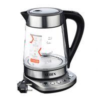 Чайник электрический 1,7 л, 2200Вт, поддерж. темп., подсветка, сталь/стекло
