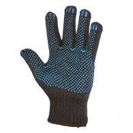 ЕРМАК Перчатки вязаные п/шерстяные, с ПВХ нанесением точка, 7,5 класс, черные