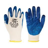 Перчатки вязаные трикотажные с рельефным латексным покрытием