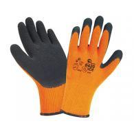 ЕРМАК Перчатки акриловые утепленные,с полимерным покрытием из вспен.латекса, сер...