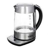 Чайник электрический на базе с поддержанием температуры, 2000Вт, стекло, нерж.ст...