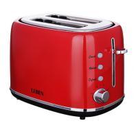 Тостер  850 Вт, 2 отделения, 7 степеней поджарки, красный