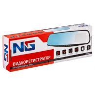 NEW GALAXY Видеорегистратор на зерк.заднего вида, HD, microSD, 12/24В