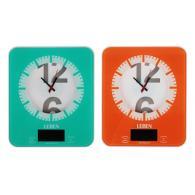 Весы кухонные электронные с часами, макс.нагр.до 5кг (точн.измер. 1 гр), пластик...