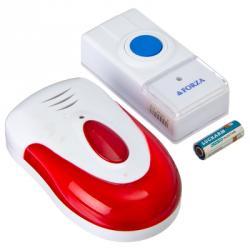 Звонок беспроводной, 32 мелодии, 3.0VDC(2x1.5VAАA), с водонепроницаемой кнопкой, D005