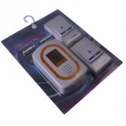 Звонок беспроводной, 32 мелодии, со световым индикатором 4.5VDC(3x1.5VAA), 2 кнопки, D5662