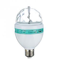 Лампочка-проектор вращающаяся, E27, 15см