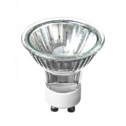 FORZA Лампа галогенная с защитным стеклом, цоколь Gu10, 220В, 35Вт, 2800K, ресурс 2 000ч., D50 мм