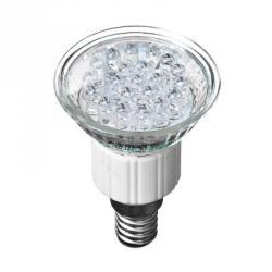 FORZA Лампа светодиодная цоколь Е14, 21LED,  1-1.5Вт, син. свеч. 220В, ресурс 30000 ч.