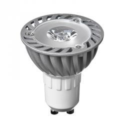 FORZA Лампа светодиодная высокомощная, цоколь GU10, 1LED, 1Вт, 3500K, 220В, ресурс 30 000 ч.